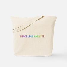 Peace Love Annette Tote Bag
