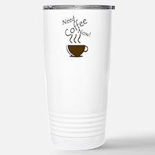 Need Coffee Now! Travel Mug