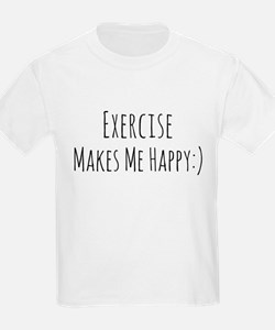 Exercise Makes Me Happy T-Shirt
