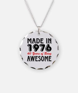 Made in 1976, 40 Years of Being Awesome Necklace