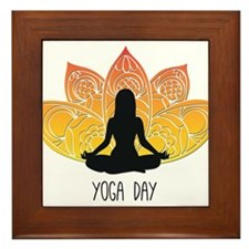 yoga Framed Tile