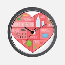 healthy lifestyle Wall Clock