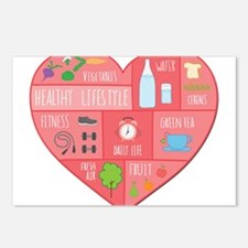 healthy lifestyle Postcards (Package of 8)