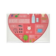 healthy lifestyle Magnets