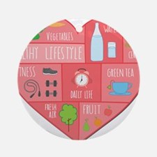 healthy lifestyle Round Ornament