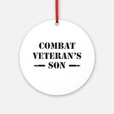Combat Vet's Son Round Ornament