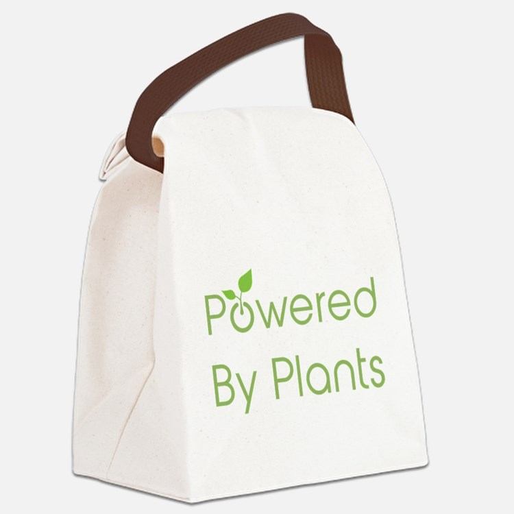 Powered By Plants Canvas Lunch Bag