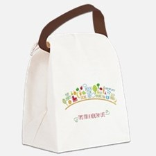 tips for healthy life Canvas Lunch Bag