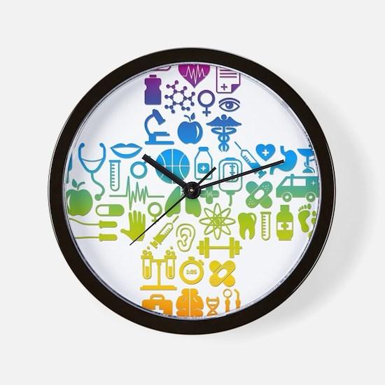 health cross Wall Clock