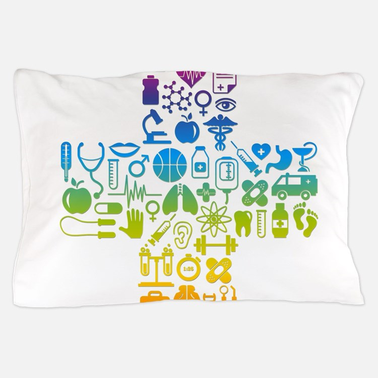 health cross Pillow Case