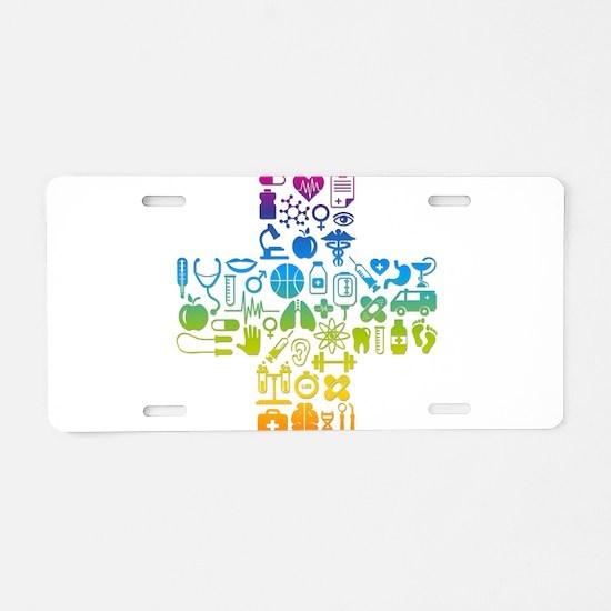 health cross Aluminum License Plate