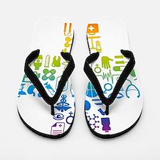 health cross Flip Flops