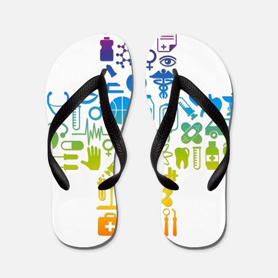 health cross Flip Flops