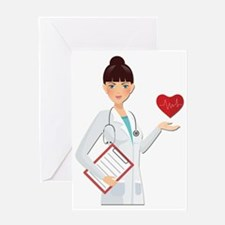 Cute Female doctor Greeting Card