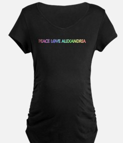 Peace Love Alexandria Maternity T-Shirt