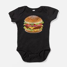 Cute Burger Baby Bodysuit