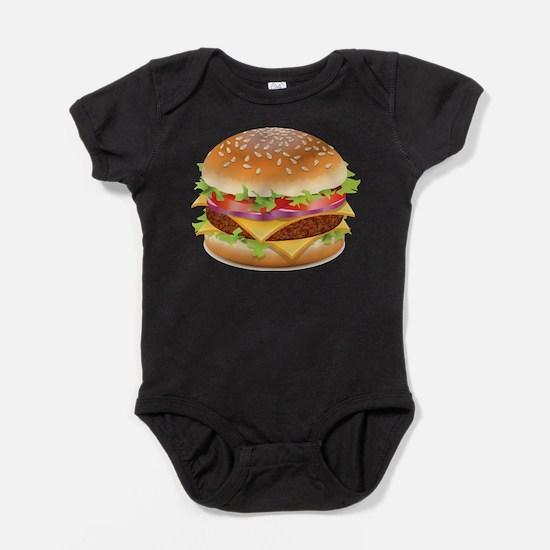 Cute Hamburger Baby Bodysuit