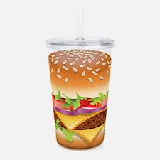 Unique Hamburger Acrylic Double-wall Tumbler