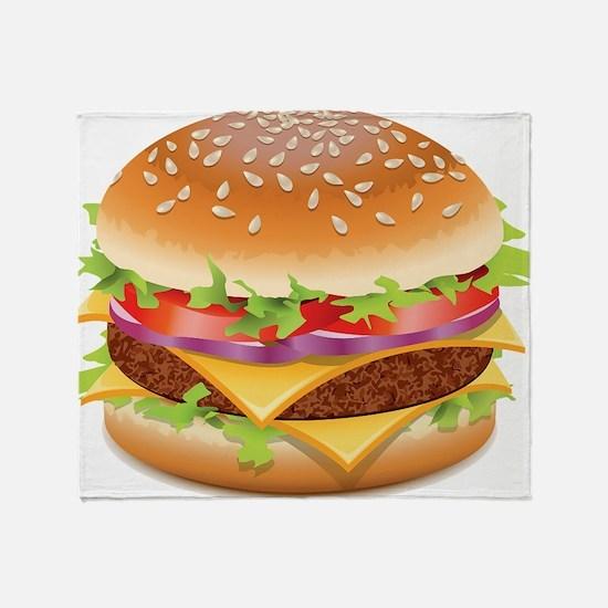 Cute Hamburger Throw Blanket