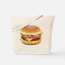 Cute Hamburger Tote Bag
