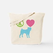 Unique Pugs not drugs Tote Bag
