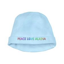 Peace Love Alaina baby hat