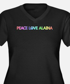 Peace Love Alaina Plus Size T-Shirt