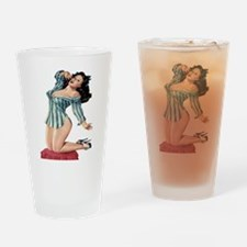 Sexy Pin Up Drinking Glass