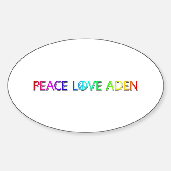 Peace Love Aden Oval Decal