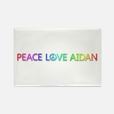 Peace Love Aidan Rectangle Magnet
