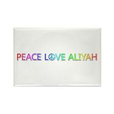 Peace Love Aliyah Rectangle Magnet
