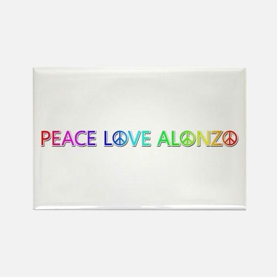Peace Love Alonzo Rectangle Magnet