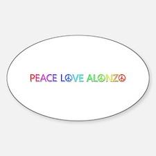 Peace Love Alonzo Oval Decal