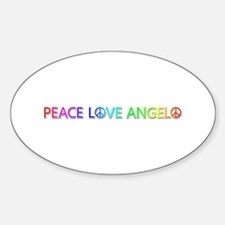 Peace Love Angelo Oval Decal