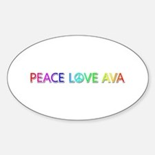 Peace Love Ava Oval Decal