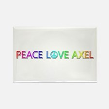 Peace Love Axel Rectangle Magnet