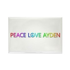 Peace Love Ayden Rectangle Magnet
