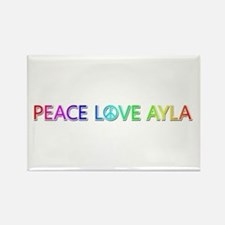 Peace Love Ayla Rectangle Magnet