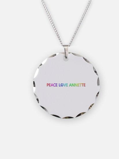 Peace Love Annette Necklace