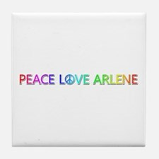 Peace Love Arlene Tile Coaster