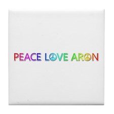 Peace Love Aron Tile Coaster