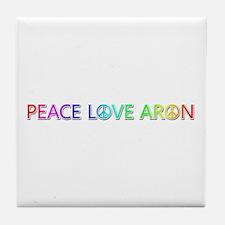 Peace Love Aron Tile Coaster