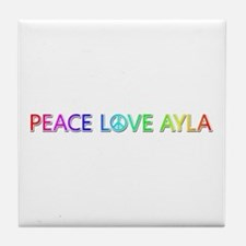 Peace Love Ayla Tile Coaster