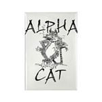 Alpha Cat Rectangle Magnet (10 pack)