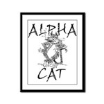 Alpha Cat Framed Panel Print