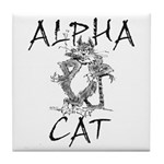 Alpha Cat Tile Coaster