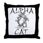 Alpha Cat Throw Pillow