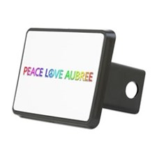 Peace Love Aubree Hitch Cover
