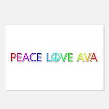 Peace Love Ava Postcards 8 Pack