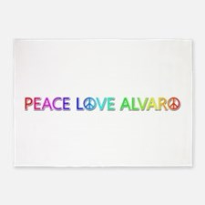 Peace Love Alvaro 5'x7' Area Rug